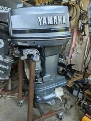 1988 115 Hp Yamaha 25 Outboard Motor Good Compression Needs Carb Work