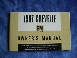 1967 Canadian Chevelle Owners Manual, Absolutely Nos Condition, Unreserved