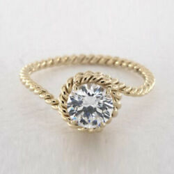 0.50 Ct Natural Diamond Engagement Proposal Ring Solid 14k Yellow Gold 7 8 5 6 4
