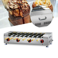 Stainless Chimney Cake Oven Roll Grill Lpg Gas 8pcs Roller Machine For Party