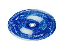 20 X 16 Inches Oval Marble Sink Lapis Lazuli Stone Vessel For Elegant Look