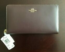 **NEW*** COACH Women#x27;s Continental Wallet Brown Calf Leather $75.00