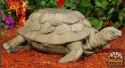 Cast Stone Galapagos Turtle 33 Cast Concrete Plant Stand Or Garden Sculpture