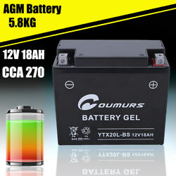 Agm Battery For Can-am Bombardier Sea-doo Skidoo 410301203 Ytx20l-bs Cca270 18ah