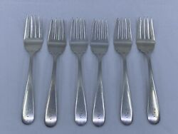 Lot Of 6 Antique S Kirk And Sons Inc Sterling Silver Forks