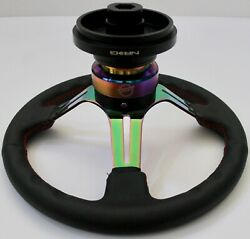 Nrg Short Hub Quick Release Steering Wheel Rs-2.0mc For Ford Mustang Focus .