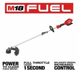 New Milwaukee M18 Fuel String Trimmer W/ Quik-lok 2825-20st Tool Only 49-16-2717