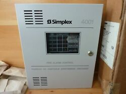 New Simplex 4001 4 Zone Facp W/2 Nac Circuits. Factory Package 1 Yr. Prot. Plan