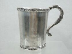 Exeptional Antique Spanish Colonial Silver Cup Mug South America Sterling 18 Cen
