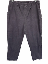 Denim And Company How Timeless Regular 4-pockets Pull-on Jeans Charcoal 2x Size