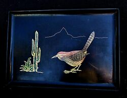 Vintage 1960and039s Modernist Road Runner - Western Serving Tray By Couroc California
