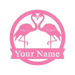 Personalized Family Name Metal Sign Flamingos Plaque Gift