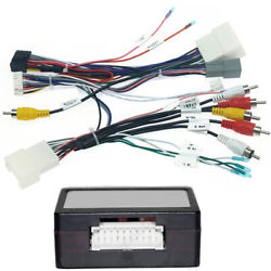Car 16 Pin Audio Wiring Harness With Canbus Box For Mitsubishi Pajero 2014-2020