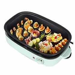 Vogous Portable Electric Grill And Hot Pot Dessert 3 In 1 Mufti-functional