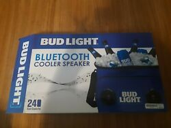 Bud Light Bluetooth Cooler Speaker Rechargeable 24 Can Heat Sealed Pool Bbq