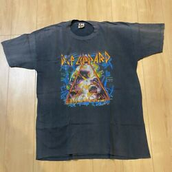 Oni Rare 87-88def Leppard Vintage Tour T-shirt Tee Size Xl From Japan Men's Tops