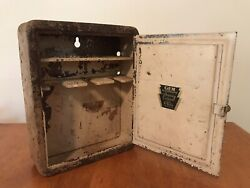 Antique Gem Micromatic Shaving Cabinet With Avon Products Rustic