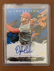 2021 Inception Dylan Carlson Auto 3/25 Jersey Number On Card Auto Rc Rookie