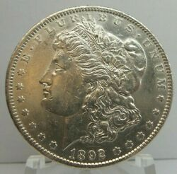 1892 S United States Morgan Silver Dollar S1 - Key Date - Cleaned - H1666