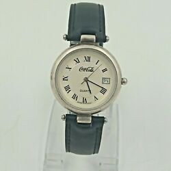 Coca-cola Antique Cocacola Original Watch Made In Siwiss Silver Plated Vintage