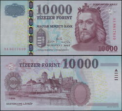 Hungary Banknote 10000 Forint - P.200c 2012 Unc