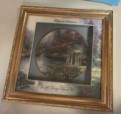 Knowles Blessings Of Faith Thomas Kinkade Gardens Of Tranquility Plate Case