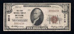 Butler Nj 6912 1929 10.00 Type Andndash1 12 Notes Reported With Period Postcard