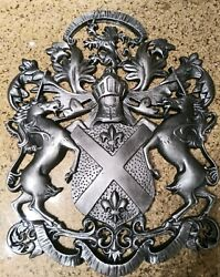 Shield wall decor Metal Art Unicorn Lion Coat of Arms Eagle medieval new
