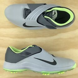 Nike Tw 2017 Tiger Woods Wolf Grey Green Mens Golf Cleats 880955 002 Size 12