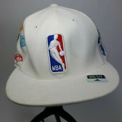 Adidas Basketball Nba Mens White Hat Size One Size Fits All