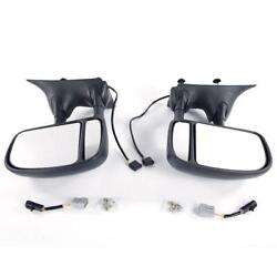 Set Of Side Power Telescopic Tow Mirrors For 99-07 Ford Super Duty Pickup Truck