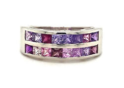 Handmade 925 Solid Sterling Silver Ring Natural Purple Sapphire Ring Ksr - 12039
