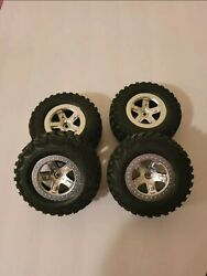 Traxxas Slash 2wd Front And Rear 1/10 Kumho Road Venture Tires 12mm Hex Wheels Use