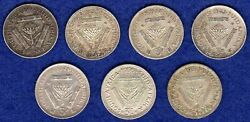 South Africa 7x Silver Threepence Coins 3d, 1926-57 Different Dates Ref. T3199