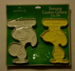 Vintage Pair Snoopy Cookie Cutters, Yellow N White 4.50 New/sealed C 1975