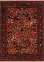 Couristan Kashimar 7and03910 X 11and0392 Rectangle Area Rugs In Antique Red