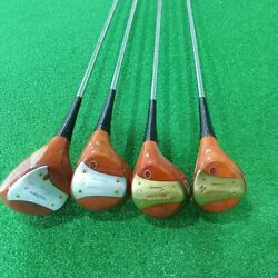 Persimmon Mcgregor Turny Used Driver Fairway Wood 4 Pcs Set From Japan Sports