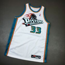 100 Authentic Grant Hill Nike 99 00 Detroit Pistons Game Issued Jersey 48+4