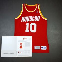 100 Authentic Sam Cassell Champion Rookie Rockets Game Worn Jersey Loa Used
