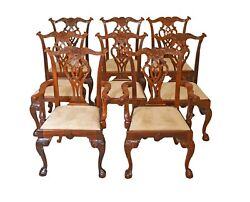 Mahogany Chippendale Dining Chairs Ball And Claw Feet