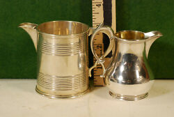 2 Small English Sterling Syrup Pitchers,both London Marked