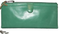 HOBO Taylor Mint Leather Bifold Clutch Wallet NWT $60.00