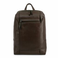 Piquadro Brown Backpack Man Vintage Leather And Logo Mod.ca4260s94