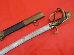 Rare Napoleonic Wars Officer's Lion Head Sword South Germany / France Antique