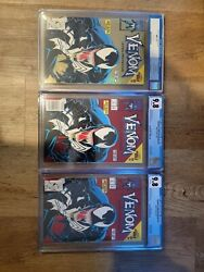 Make An Offer Venom Lethal Protector 1and039s Cgc Gold 9.6 Newsstand 9.8 Direct 9.8
