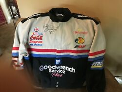 Dale Earnhart Racing Jacket With His Name Embroidered And Autographed