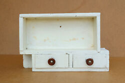 Old Vintage Wooden Medicine Cupboard Chest Cabinet First Aid Box 1950's Rustic