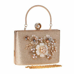 Women's Flower Clutch Handbags Evening Bags Prom Party Wedding Cocktail Clutches $33.11