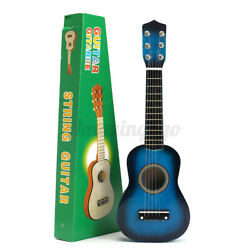 Blue 21and039and039 6 String Beginners Practice Acoustic Guitar Musical Fast Shipping