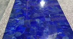 42 Inches Marble Dining Table Royal Blue Stone Living Table With Random Work